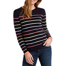 Buy White Stuff River Sugar Stripe Jumper, Navy/Multi Online at johnlewis.com
