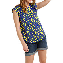 Buy White Stuff Lemon Print Vest Top, Navy/Multi Online at johnlewis.com