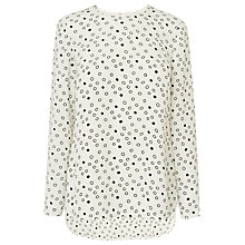 Buy L.K. Bennett Linn Spot Top, White Online at johnlewis.com