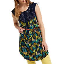 Buy White Stuff Tiki Leaf Print Jersey Tunic Top, Navy/ Multi Online at johnlewis.com