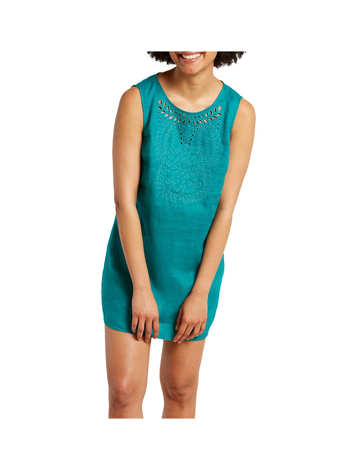 d5fc95b1251 Buy White Stuff Vivian Linen Tunic Dress, Jungle Green, 6 Online at  johnlewis.