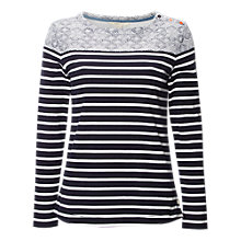 Buy White Stuff Poppy Stripe Jersey Top, Navy/Multi Online at johnlewis.com