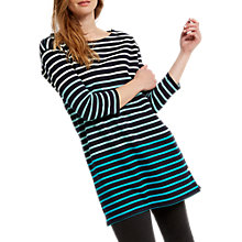 Buy White Stuff Ombre Stripe Jersey Tunic Top, Navy Online at johnlewis.com
