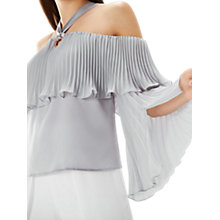 Buy Coast Renata Tiered Top, Silver Online at johnlewis.com