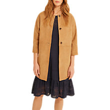 Buy Gerard Darel Virginie Leather Coat, Beige Online at johnlewis.com