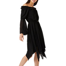 Buy Coast Dante Beaded Dress, Black Online at johnlewis.com