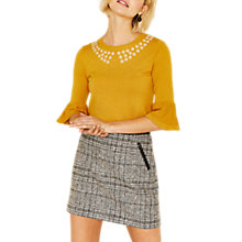 Buy Oasis Buttercup Flare Cuff Knit Jumper, Bright Yellow Online at johnlewis.com