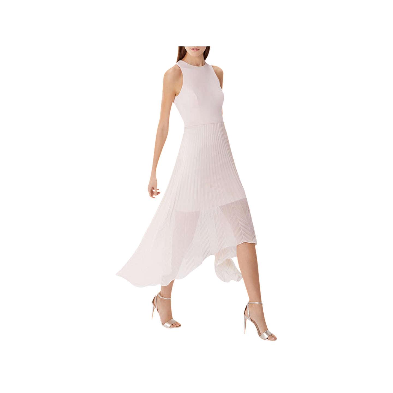 Ruby Wedding Gifts John Lewis: Coast Ruby Pleated Midi Dress, Blush At John Lewis