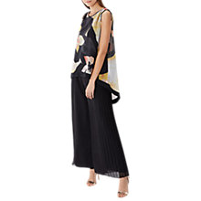 Buy Coast Morocco Pleated Trousers, Black Online at johnlewis.com