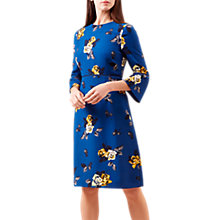 Buy Hobbs Tea Rose Dress, Blue/Multi Online at johnlewis.com