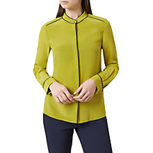 Buy Hobbs Dotty Blouse, Chartreuse Online at johnlewis.com