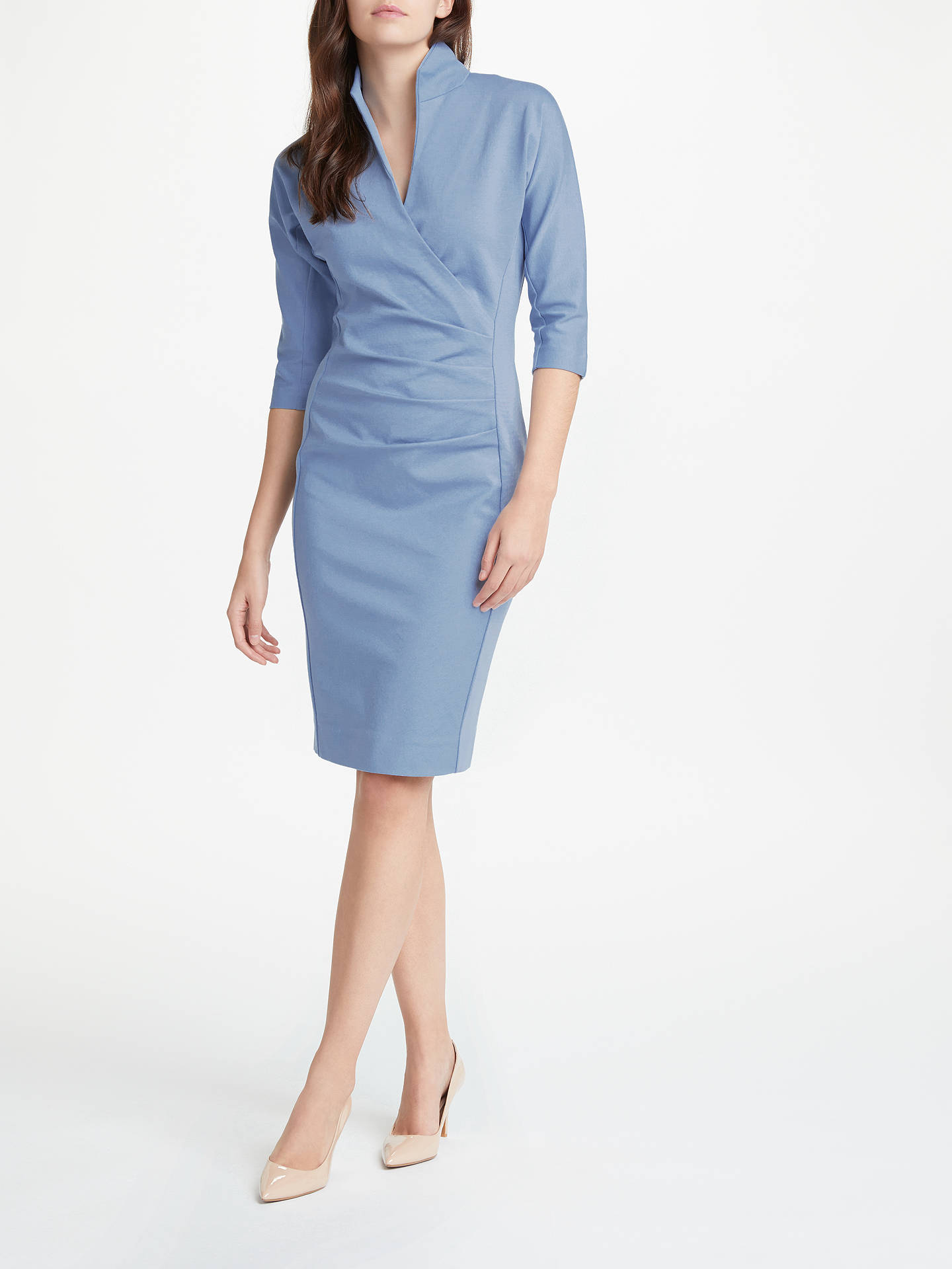 BuyWinser London Grace Miracle Dress, Dusky Blue, 6 Online at johnlewis.com