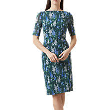 Buy Hobbs Brinley Dress, Green/Multi Online at johnlewis.com