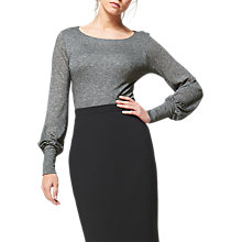Buy L.K.Bennett Karine Jersey Top, Grey Online at johnlewis.com
