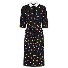 Buy L.K. Bennett Carys Spot Dress, Black/Multi Online at johnlewis.com