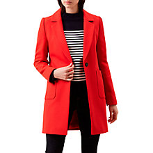 Buy Hobbs Camellia Coat, Chilli Red Online at johnlewis.com