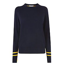 Buy L.K. Bennett Lilis Wool Cotton Jumper, Blue/Yellow Online at johnlewis.com