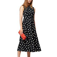 Buy L.K. Bennett Marlina Spot Dress, Black/White Online at johnlewis.com