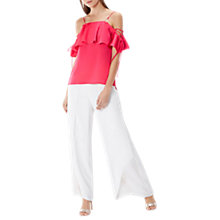 Buy Coast Florencia Frill Top, Fuchsia Online at johnlewis.com