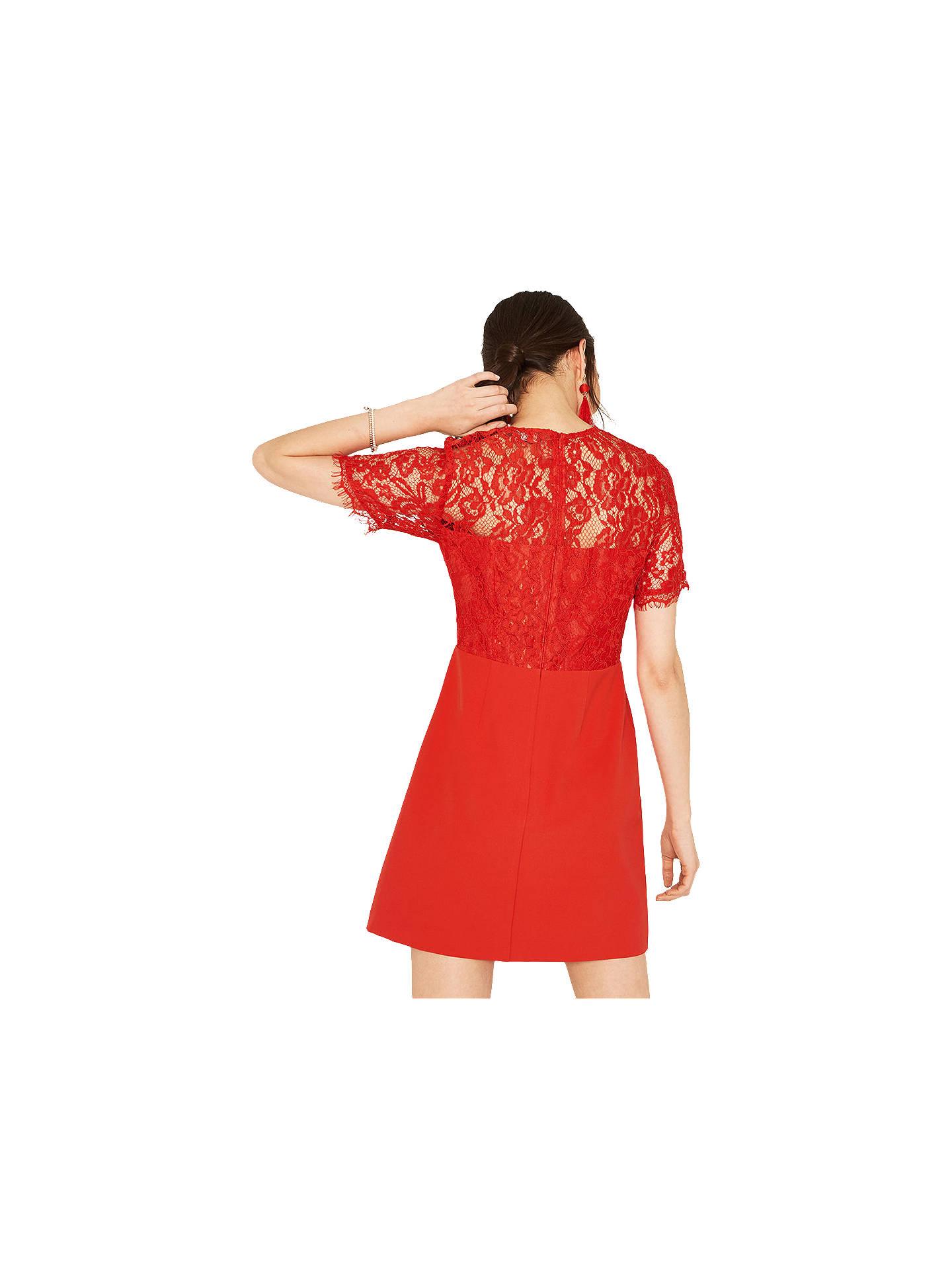 5bfb2d91478f ... Buy Oasis Lace Bodice Dress, Mid Orange, 6 Online at johnlewis.com ...