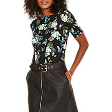 Buy Oasis Begonia Short Sleeve Top, Multi Online at johnlewis.com