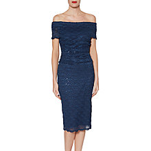 Buy Gina Bacconi Stacey Sequin Lace Dress, Navy Online at johnlewis.com