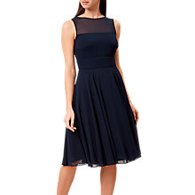 Buy Hobbs Ashling Dress, Navy Online at johnlewis.com