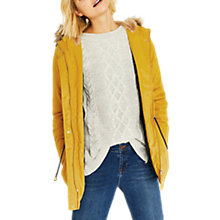 Buy Oasis Camelia Parka, Mid Yellow Online at johnlewis.com