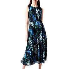 Buy Hobbs Brea Dress, Navy/Multi Online at johnlewis.com