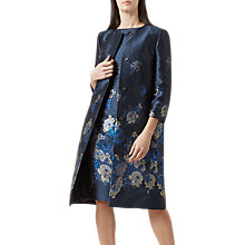 Buy Hobbs Yen Coat, Navy/Multi Online at johnlewis.com