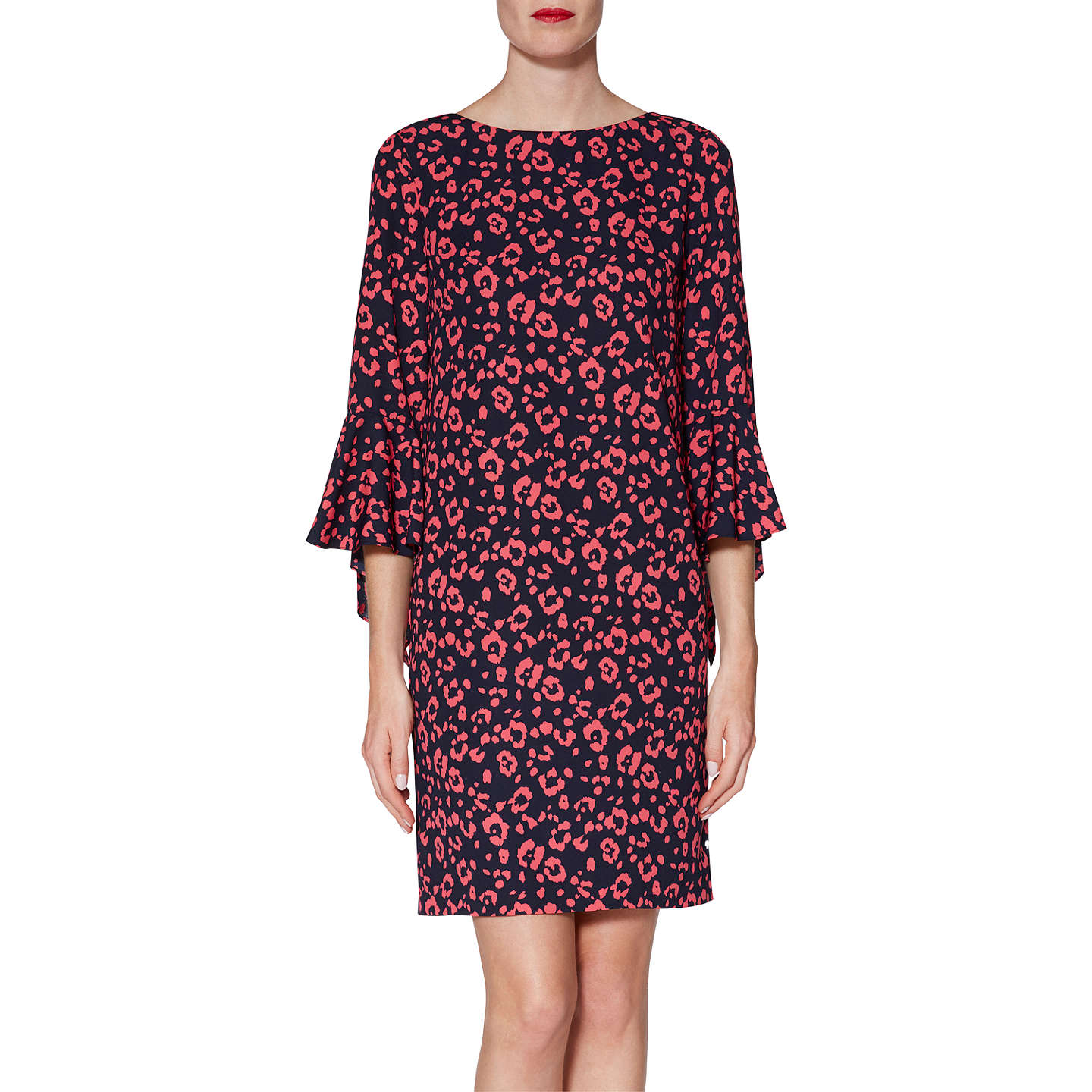 Womens Hattie Print Crepe Party Dress Gina Bacconi Outlet Online Marketable Online re8oaz