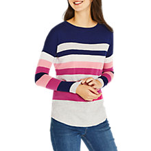 Buy Oasis Bridgette Cosy Striped Jumper, Navy Online at johnlewis.com