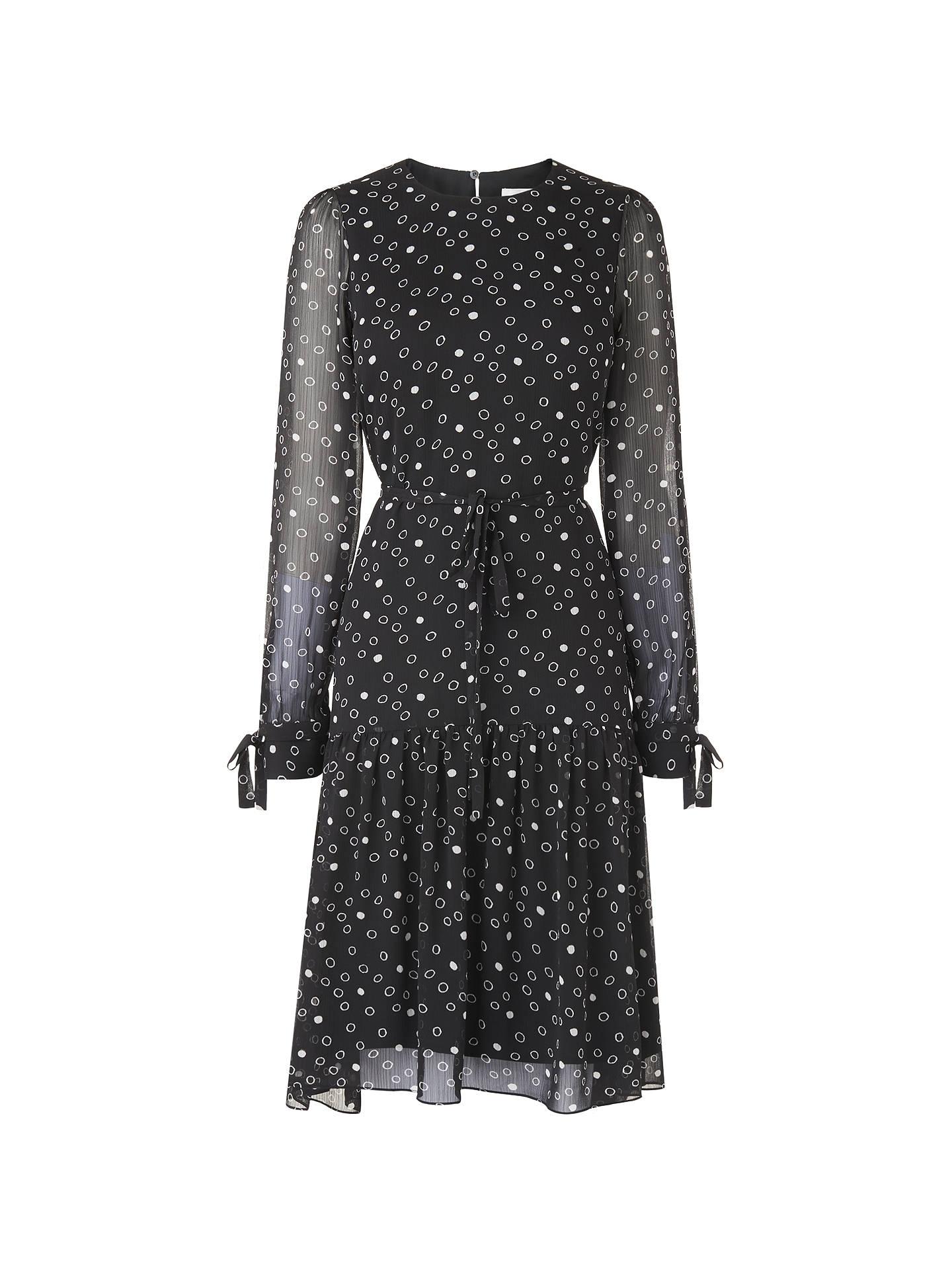 f5ac1963b2b L.K. Bennett Perl Dress, Black White at John Lewis   Partners