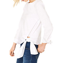 Buy Oasis Sash Tie Top, White Online at johnlewis.com