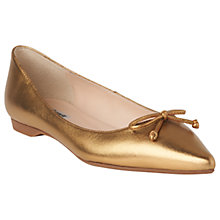 Buy L.K. Bennett Clarisse Ballet Pumps, Bronze Leather Online at johnlewis.com