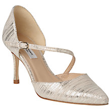 Buy L.K. Bennett Alix Stiletto Heeled Court Shoes, Soft Gold Leather Online at johnlewis.com