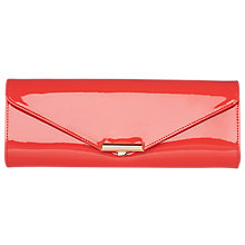Buy L.K. Bennett Cecilia Patent Leather Clutch Bag, Orange Online at johnlewis.com