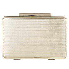 Buy L.K. Bennett Nina Leather Box Clutch Bag, Soft Gold Online at johnlewis.com