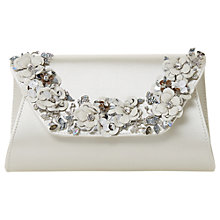 Buy Dune Bridal Collection Bathilda Embellished Clutch Bag, Ivory Online at johnlewis.com