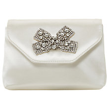Buy Dune Bridal Collection Belightful Diamante Bow Clutch Bag, Ivory Online at johnlewis.com