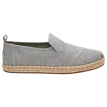 Buy TOMS Alpargata Deconstructed Plimsolls, Grey Online at johnlewis.com