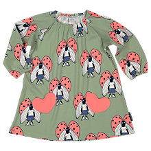 Buy Polarn O. Pyret Baby Beetle Dress, Green Online at johnlewis.com