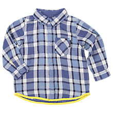 Buy Polarn O. Pyret Baby Reversible Long Sleeve Shirt, Yellow/Blue Online at johnlewis.com