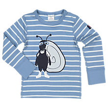 Buy Polarn O. Pyret Baby Stripe Applique Top, Blue Online at johnlewis.com
