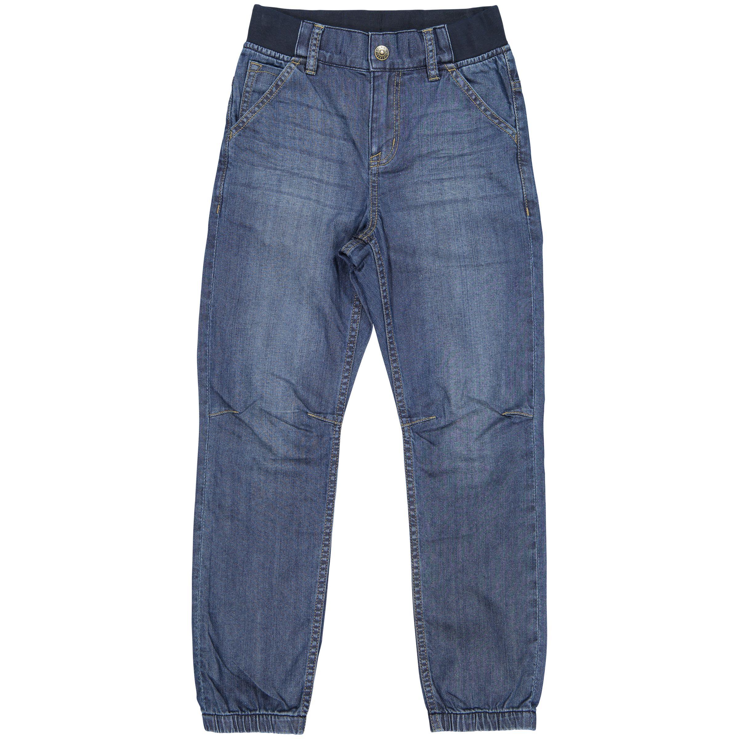 Polarn O. Pyret Polarn O. Pyret Children's Cuffed Denim Jeans, Blue