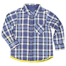 Buy Polarn O. Pyret Children's Reversible Check Shirt, Blue Online at johnlewis.com