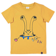 Buy Polarn O. Pyret Children's Graphic T-Shirt, Yellow Online at johnlewis.com
