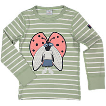 Buy Polarn O. Pyret Children's Stripe Ladybird Top, Green Online at johnlewis.com