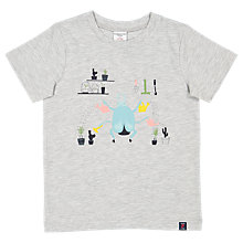 Buy Polarn O. Pyret Children's Graphic Insect T-Shirt, Grey Online at johnlewis.com