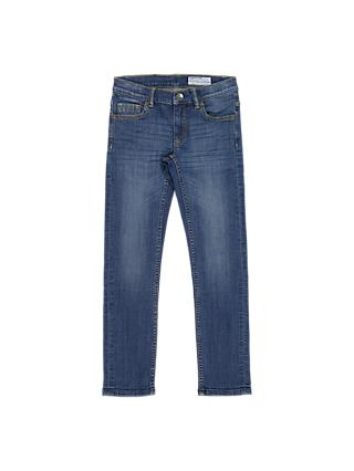 Polarn O. Pyret Children's Slim Fit Denim Jeans, Blue